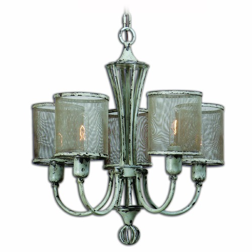 Uttermost Lighting Uttermost Pontoise 5 Light Vintage Chandelier 21259