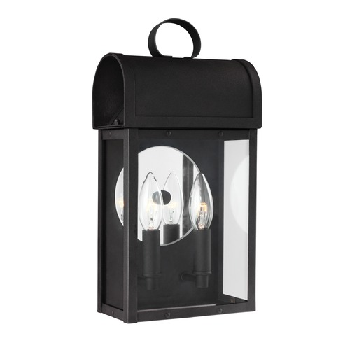 Sea Gull Lighting Sea Gull Conroe Black Outdoor Wall Light 8614802-12