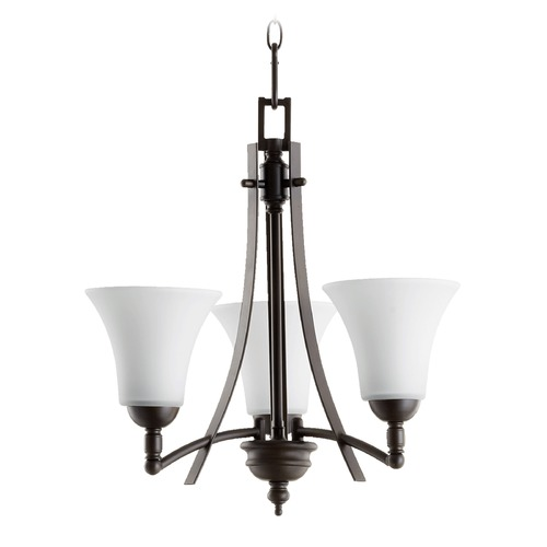 Quorum Lighting Quorum Lighting Aspen Oiled Bronze Mini-Chandelier 6177-3-186
