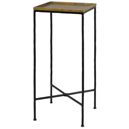 Currey and Company Lighting Currey and Company Boyles Black / Antique Brass Accent Table 4000-0012