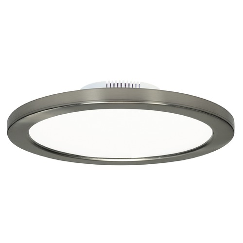 Satco Lighting Satco 7-Inch Round Brushed Nickel LED Surface Mount Light 12W 120-277V 3000K 960LM S9883