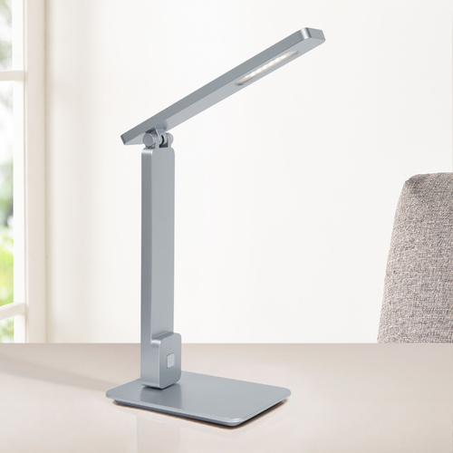 Lite Source Lighting Lite Source Echo Silver LED Desk Lamp LS-23082SILV