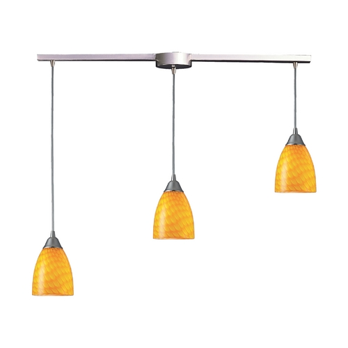 Elk Lighting Modern Multi-Light Pendant Light with Art Glass and 3-Lights 416-3L-CN