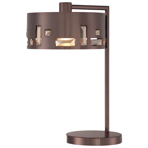 George Kovacs Lighting Modern Table Lamp in Chocolate Chrome Finish P1082-631