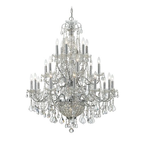 Crystorama Lighting Crystal Chandelier in Polished Chrome Finish 3229-CH-CL-MWP