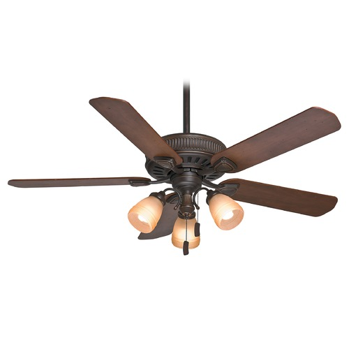 Casablanca Fan Co Casablanca Fan Ainsworth Gallery Onyx Bengal Ceiling Fan with Light 54006