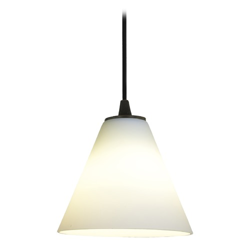 Access Lighting Access Lighting Sydney Inari Silk Oil Rubbed Bronze Mini-Pendant with Conical Shade 28004-1C-ORB/WHT