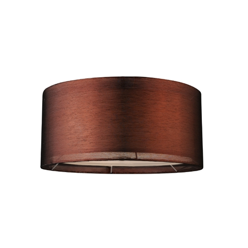 Copper Drum Lamp Shade with Spider Assembly