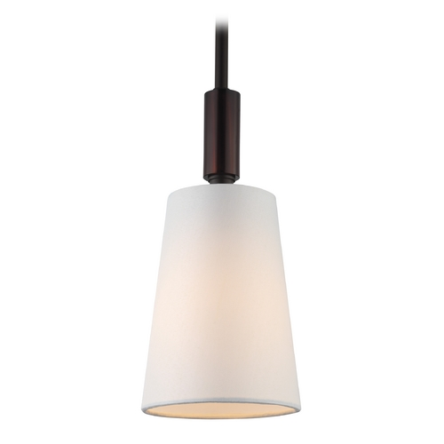 Feiss Lighting Feiss Lighting Lismore Oil Rubbed Bronze Mini-Pendant Light with Empire Shade P1303ORB