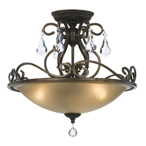 Crystorama Lighting Crystorama Lighting Ashton English Bronze Semi-Flushmount Light 5010-EB-CL-MWP