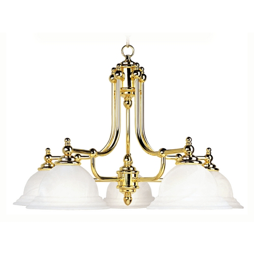 Livex Lighting Livex Lighting North Port Polished Brass Chandelier 4255-02