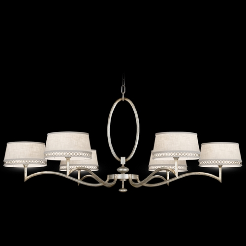 Fine Art Lamps Fine Art Lamps Allegretto Silver Platinized Silver Leaf with Subtle Brown Highlights Chandelier 771740ST