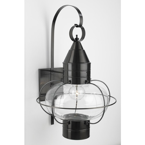 Norwell Lighting Norwell Lighting Classic Onion Black Outdoor Wall Light 1509-BL-CL