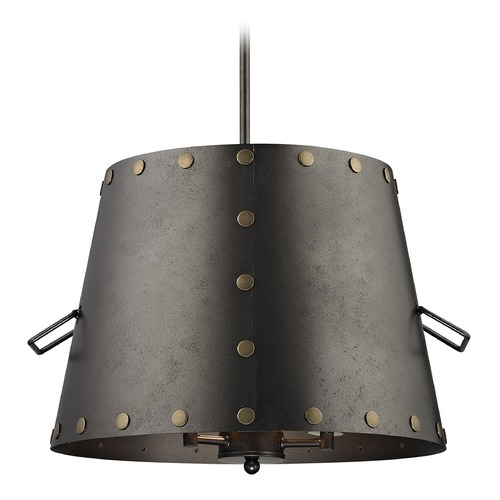 Elk Lighting Elk Lighting Ephrata Weathered Iron Pendant Light with Empire Shade 14302/3
