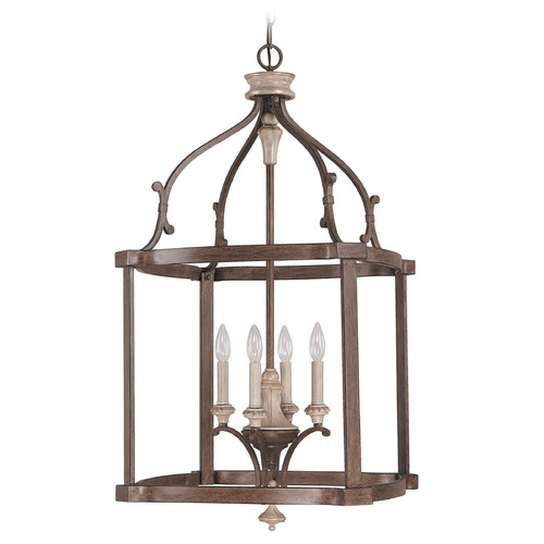 Capital Lighting Capital Lighting Chateau French Oak Pendant Light 9473FO