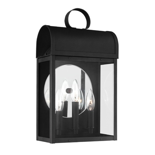 Sea Gull Lighting Sea Gull Conroe Black Outdoor Wall Light 8714803-12