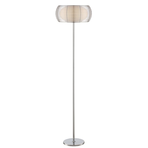 Lite Source Lighting Lite Source Chrome Floor Lamp with Oblong Shade LS-82767
