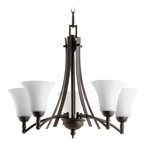 Quorum Lighting Quorum Lighting Aspen Oiled Bronze Chandelier 6177-5-186