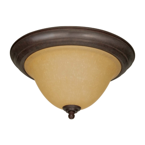Nuvo Lighting Flushmount Light with Beige / Cream Glass in Sonoma Bronze Finish 60/1026