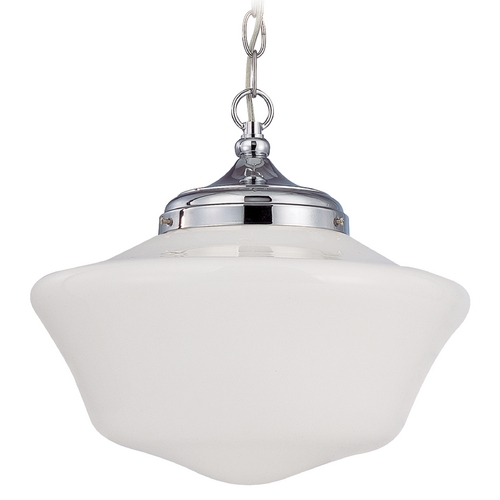 Design Classics Lighting 14-Inch Schoolhouse Pendant Light with Chain FA6-26 / GA14 / A-26