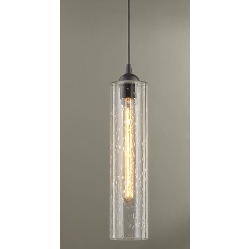 Design Classics Lighting Gala Fuse Bronze Mini-Pendant Light with Cylindrical Shade 582-220 GL1641C