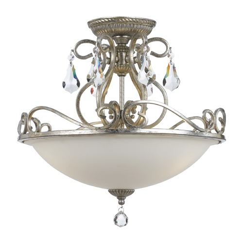 Crystorama Lighting Crystorama Lighting Ashton Olde Silver Semi-Flushmount Light 5010-OS-CL-MWP