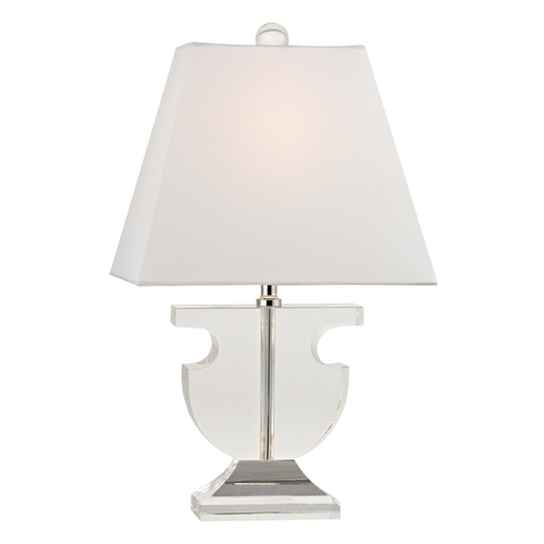Dimond Lighting Table Lamp with White Shades in Clear Finish D2485