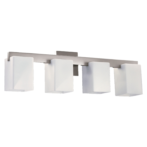 Quorum Lighting Quorum Lighting Modus Satin Nickel Bathroom Light 5076-4-65