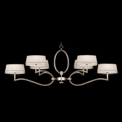 Fine Art Lamps Fine Art Lamps Allegretto Silver Platinized Silver Leaf with Subtle Brown Highlights Chandelier 780040ST