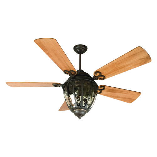 Craftmade Lighting Craftmade Lighting Olivier Aged Bronze Textured Ceiling Fan with Light K10731