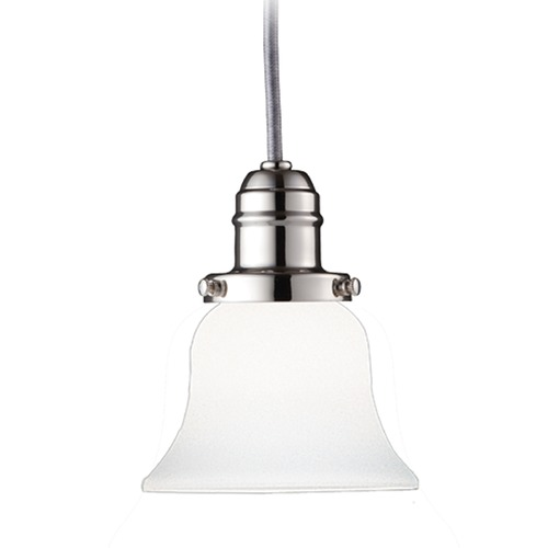 Hudson Valley Lighting Hudson Valley Lighting Vintage Collection Polished Nickel Mini-Pendant Light with Bell Shade 3101-PN-341