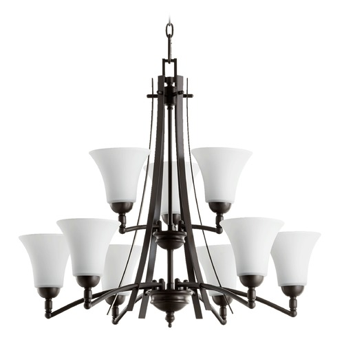 Quorum Lighting Quorum Lighting Aspen Oiled Bronze Chandelier 6177-9-186