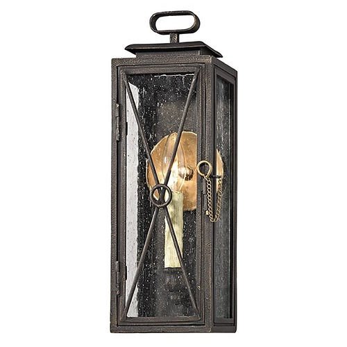 Troy Lighting Troy Lighting Randolph Vintage Bronze with Brass Outdoor Wall Light B6441