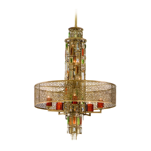 Corbett Lighting Corbett Lighting Riviera Bronze W/sil Island Light with Drum Shade 123-410