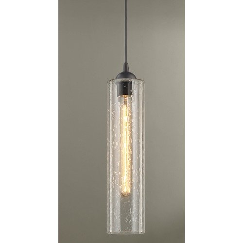 Design Classics Lighting Seeded Glass Mini-Pendant Bronze 582-220 GL1641C