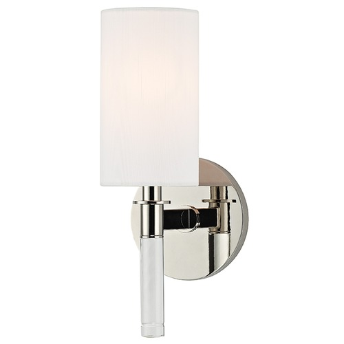 Hudson Valley Lighting Wylie 1 Light Sconce - Polished Nickel 6311-PN
