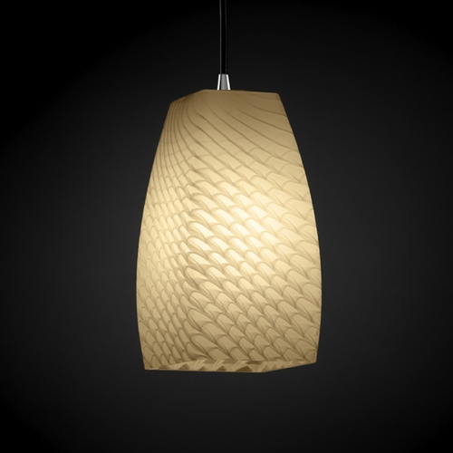 Justice Design Group Justice Design Group Fusion Collection Mini-Pendant Light FSN-8816-65-WEVE-ABRS
