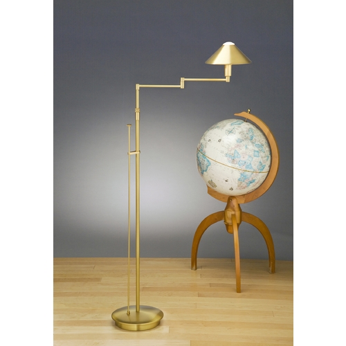 Holtkoetter Lighting Holtkoetter Modern Swing Arm Lamp in Antique Brass Finish 9424 AB