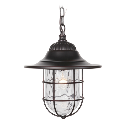 Craftmade Lighting Craftmade Lighting Fairmont Oiled Bronze Gilded Outdoor Hanging Light Z5821-88
