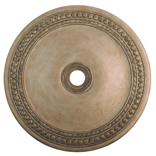 Livex Lighting Livex Lighting Wingate Hand Painted Antique Silver Leaf Ceiling Medallion 82078-73