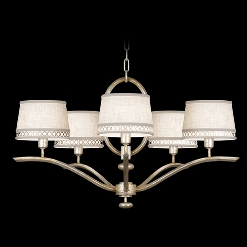 Fine Art Lamps Fine Art Lamps Allegretto Silver Platinized Silver Leaf with Subtle Brown Highlights Chandelier 785440ST
