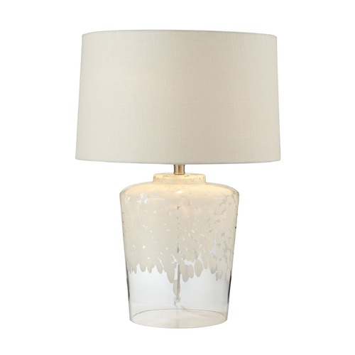Dimond Lighting Dimond Lighting White, Clear Table Lamp with Drum Shade 979005