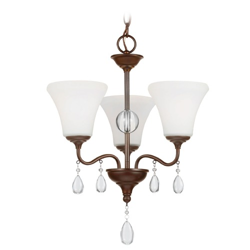 Sea Gull Lighting Sea Gull Lighting West Town Burnt Sienna Mini-Chandelier 3210503-710