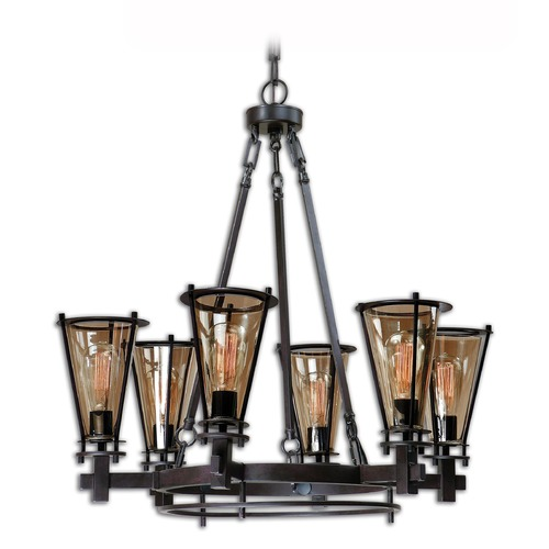 Uttermost Lighting Uttermost Frisco 6 Light Metal Chandelier 21263