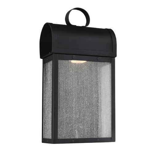 Sea Gull Lighting Sea Gull Conroe Black LED Outdoor Wall Light 8614891S-12