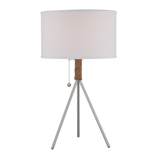 Lite Source Lighting Lite Source Trixie Silver Table Lamp with Drum Shade LS-22762