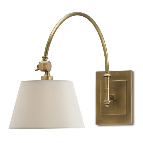 Currey and Company Lighting Currey and Company Ashby Antique Brass Swing Arm Lamp 5000-0003