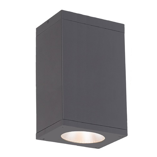 WAC Lighting Wac Lighting Cube Arch Graphite LED Close To Ceiling Light DC-CD06-S835-GH