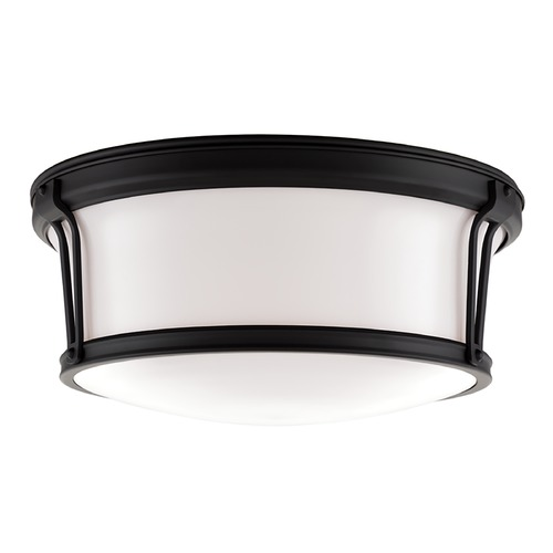 Hudson Valley Lighting Flushmount Light with White Glass in Old Bronze Finish 6515-OB