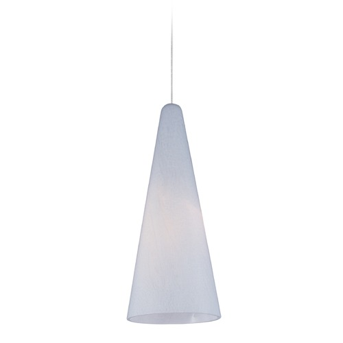ET2 Lighting Minx Satin Nickel Mini-Pendant Light with Conical Shade E94528-101SN
